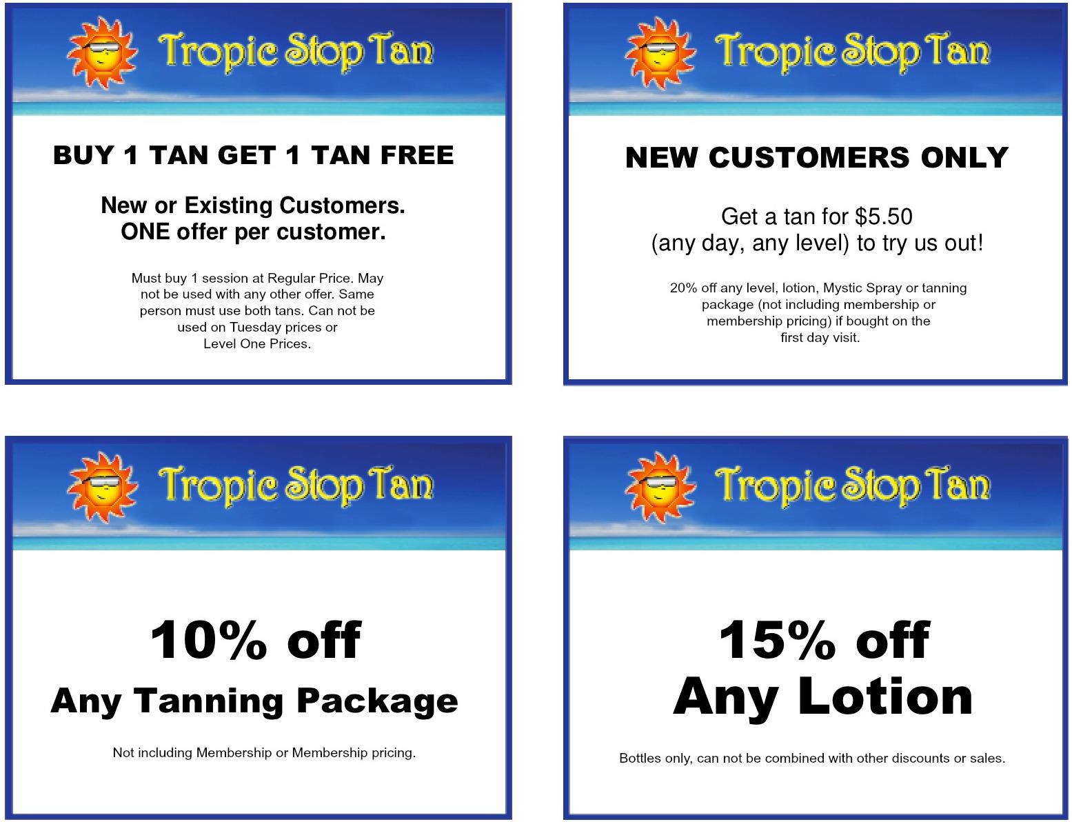 tropic stop tan coupons